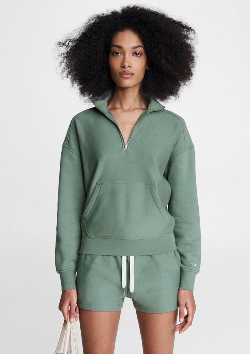 RAG & BONE City Half Zip Pullover - Green Fig main image