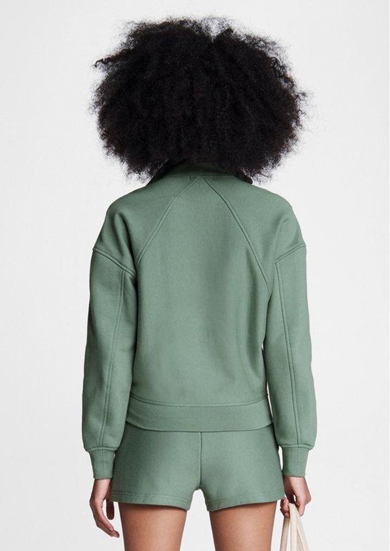 RAG & BONE City Mini Cotton Sweat Shorts - Green Fig main image