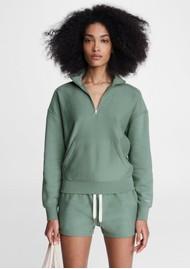 RAG & BONE City Mini Cotton Sweat Shorts - Green Fig