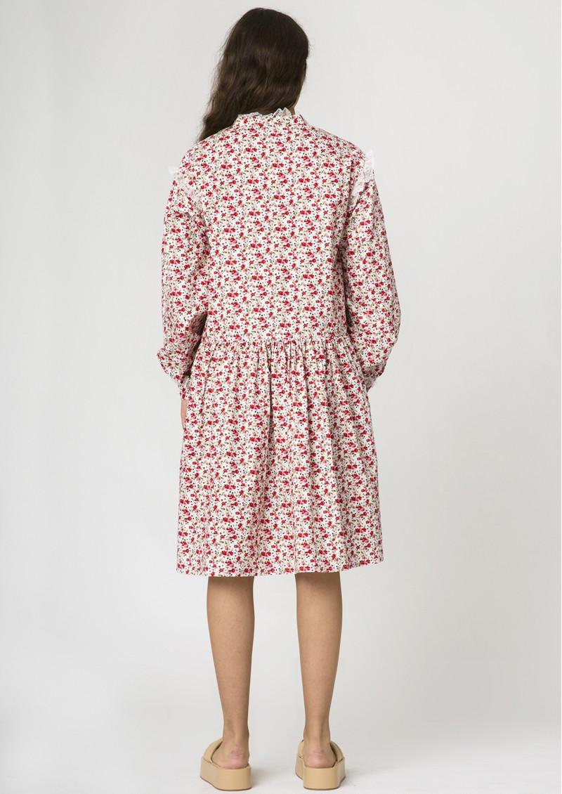 RESUME Elena Cotton Floral Dress -Red main image