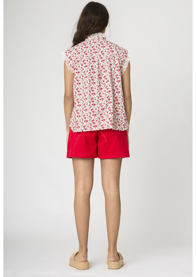 RESUME Ebon Organic Cotton Blouse - Red main image