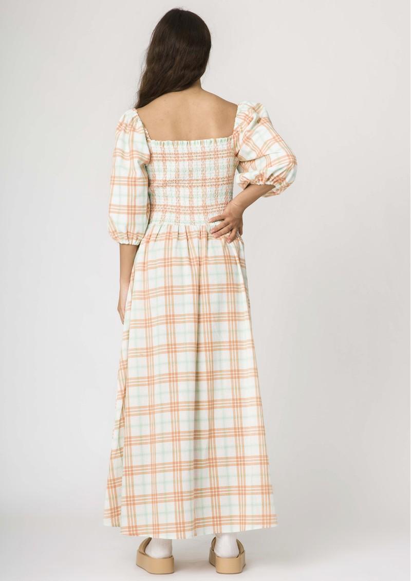 RESUME Ebony Check Cotton Dress - Copper main image