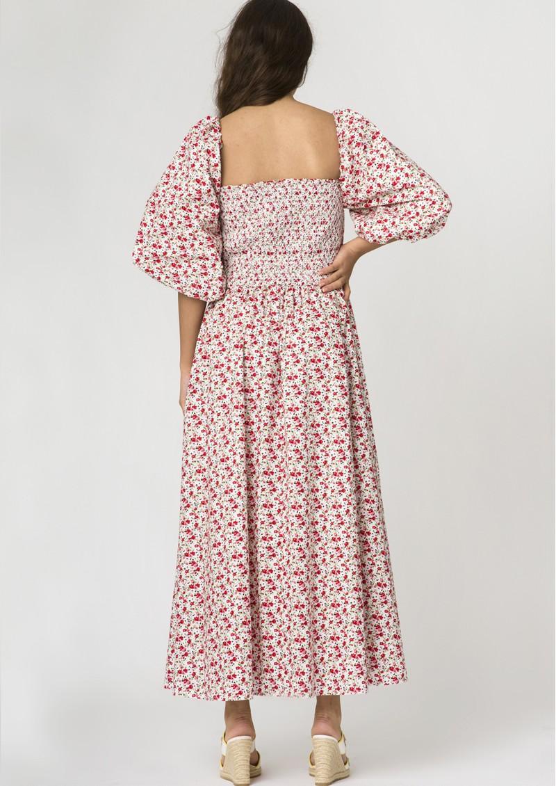 RESUME Ebony Floral Cotton Dress - Red main image