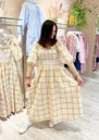 Ebony Check Cotton Dress - Copper additional image