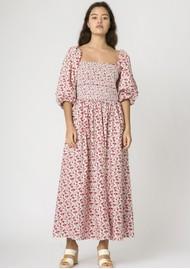 RESUME Ebony Floral Cotton Dress - Red