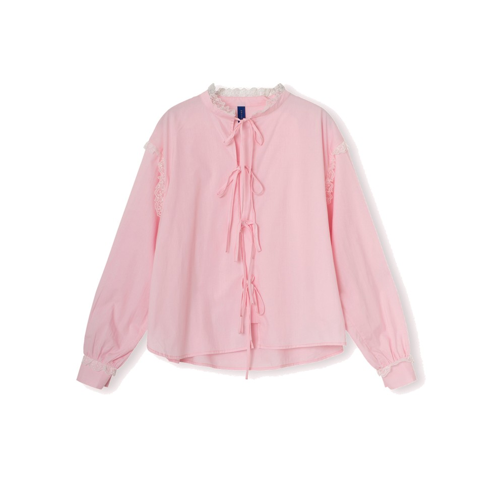Edith Cotton Shirt - Pink