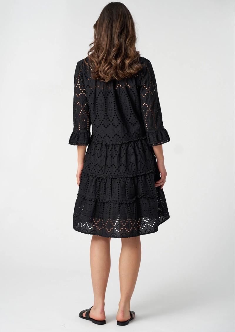 DEA KUDIBAL Vilda NS Broderie Anglaise Dress - Black main image