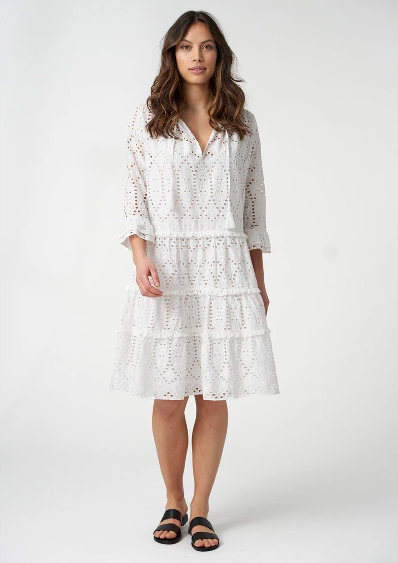 DEA KUDIBAL Vilda NS Broderie Anglaise Dress - White main image