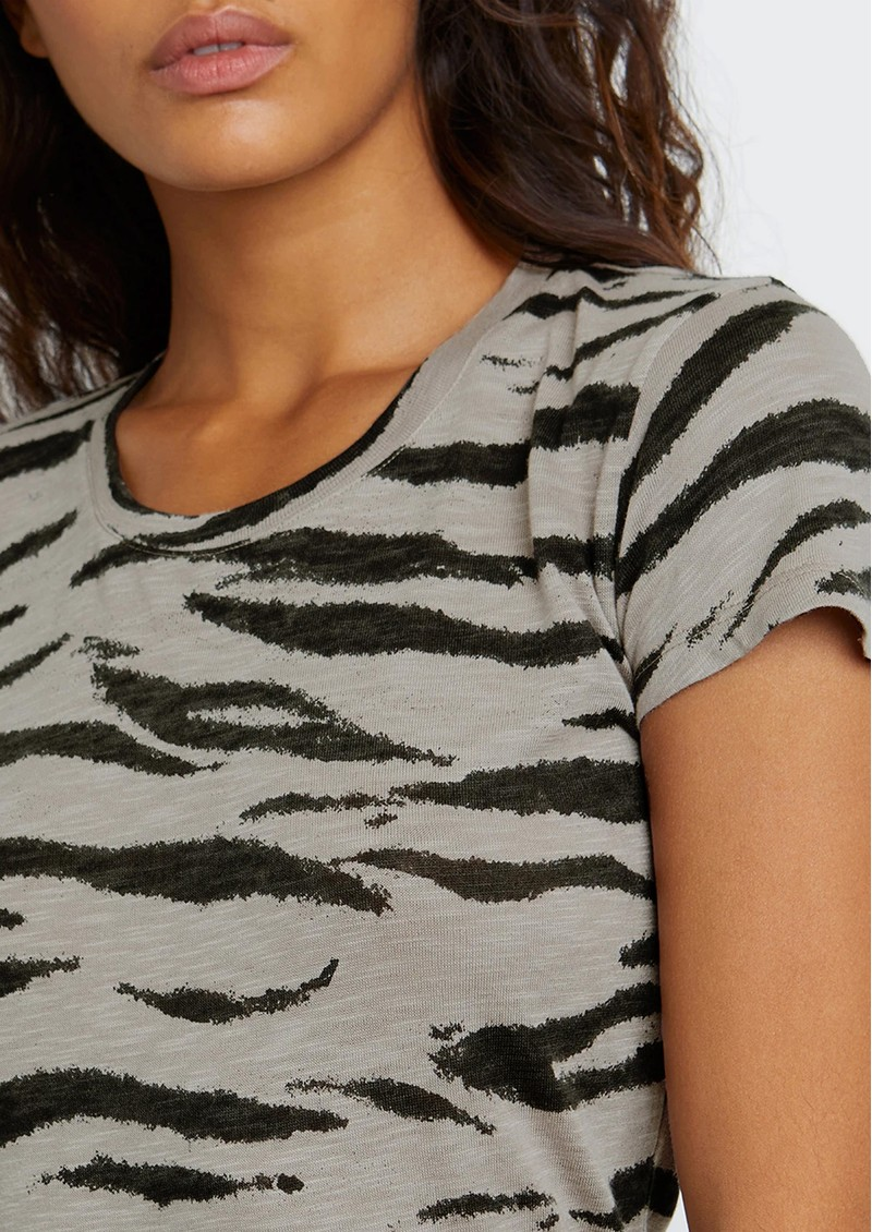 Rails The Fitted Crew Cotton Tee - Beige Tiger main image