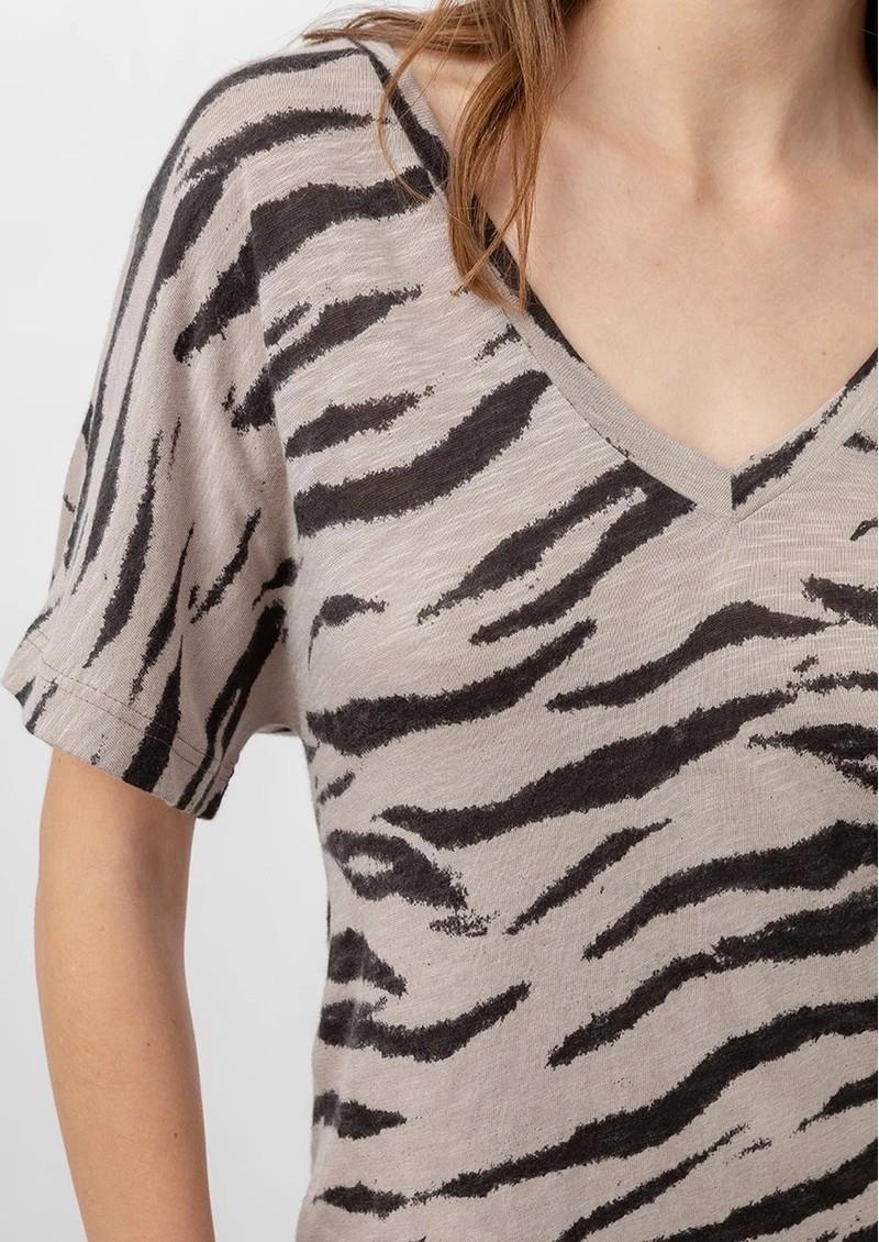 Rails Ren Cotton Dress - Beige Tiger main image