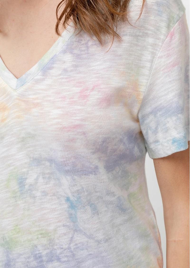 Rails Cara Cotton Tee - Rainbow Tie Dye main image