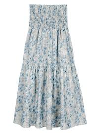 MAYLA Leia Midi Smock Organic Cotton Skirt - Ditsy