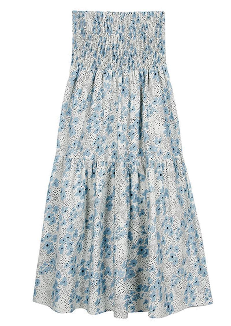 MAYLA Leia Midi Smock Organic Cotton Skirt - Ditsy main image