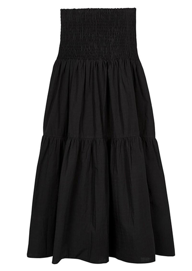 MAYLA Leia Midi Smock Organic Cotton Skirt - Black main image