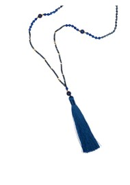 TRIBE + FABLE Single Tassel Necklace - Navy & Gold