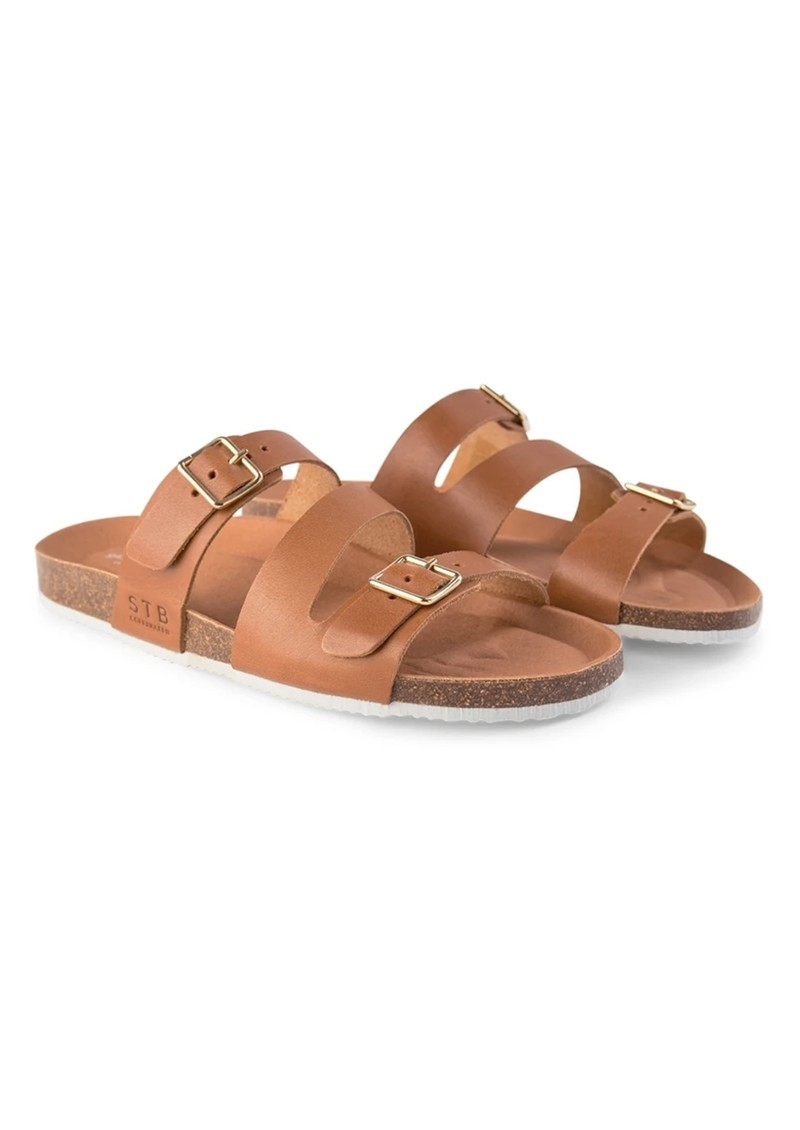 SHOE THE BEAR Cara Leather Slip In Sandals - Tan main image