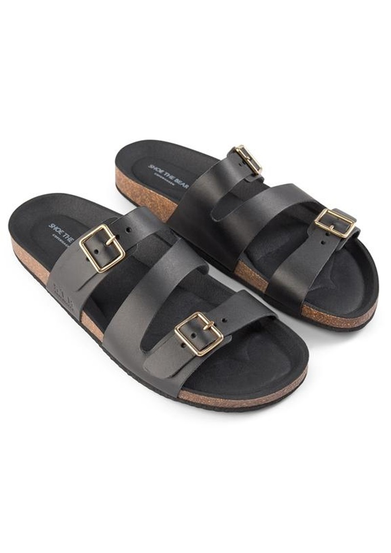 SHOE THE BEAR Cara Leather Slip In Sandals - Black main image