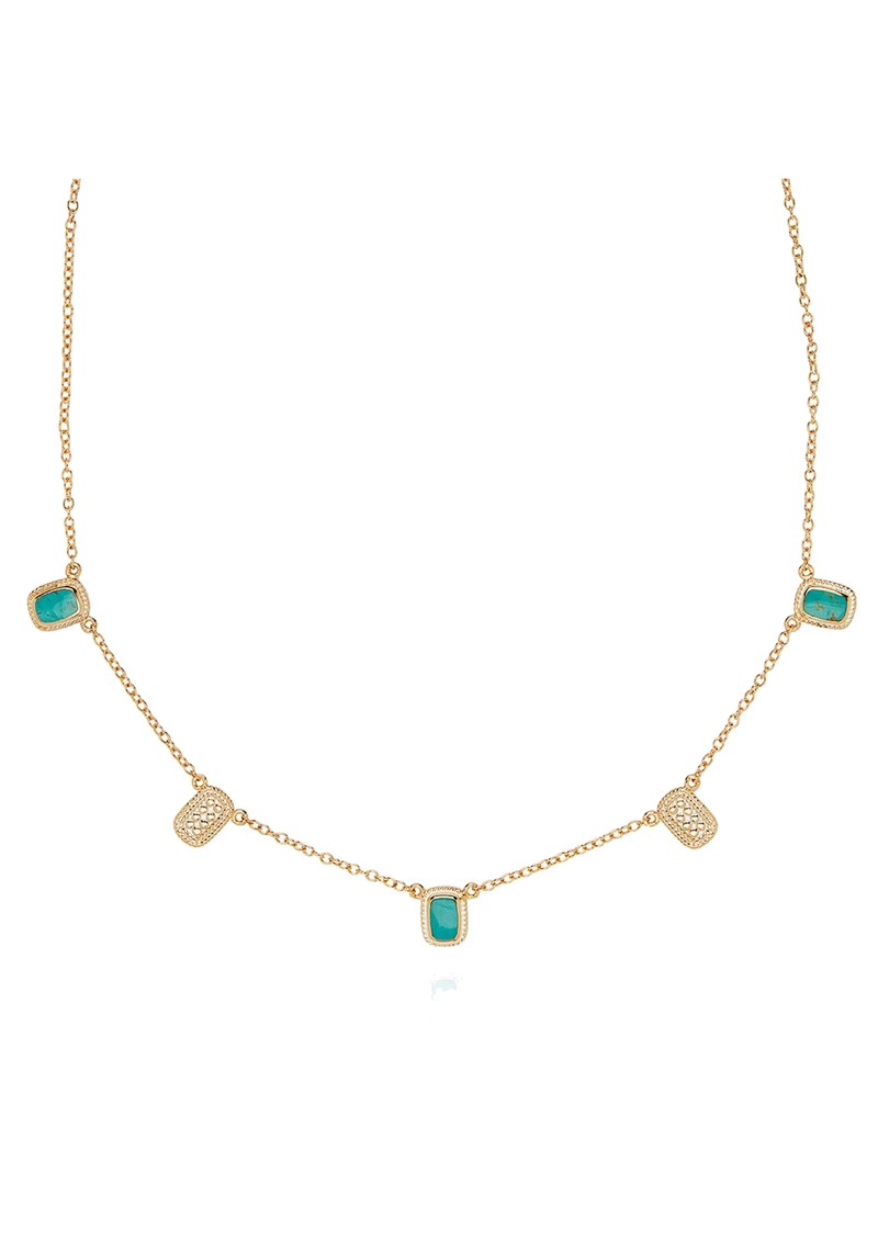 ANNA BECK Turquoise Cushion Collar Necklace - Gold main image