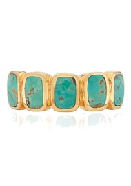 ANNA BECK Turquoise Multi Cushion Ring - Gold