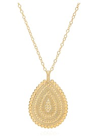 ANNA BECK Large Scalloped Teardrop Necklace - Gold