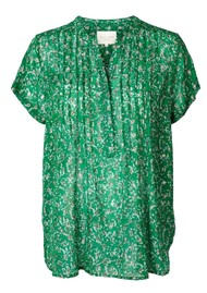 LOLLYS LAUNDRY Heather Top - Dark Green