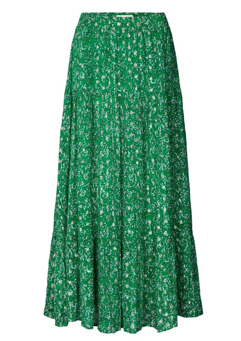 LOLLYS LAUNDRY Bonny Maxi Skirt - Dark Green main image
