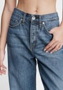 Logan High Rise Wide Leg Relaxed Jean - Mid Tone Linen additional image