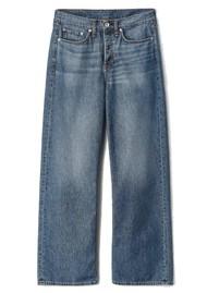 RAG & BONE Logan High Rise Wide Leg Relaxed Jean - Mid Tone Linen
