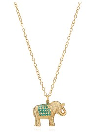 ANNA BECK Turquoise Pavé Elephant Charity Necklace - Gold