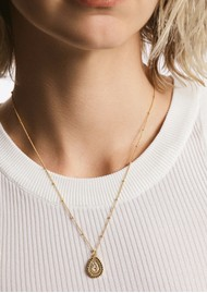 ANNA BECK Scalloped Teardrop Necklace - Gold