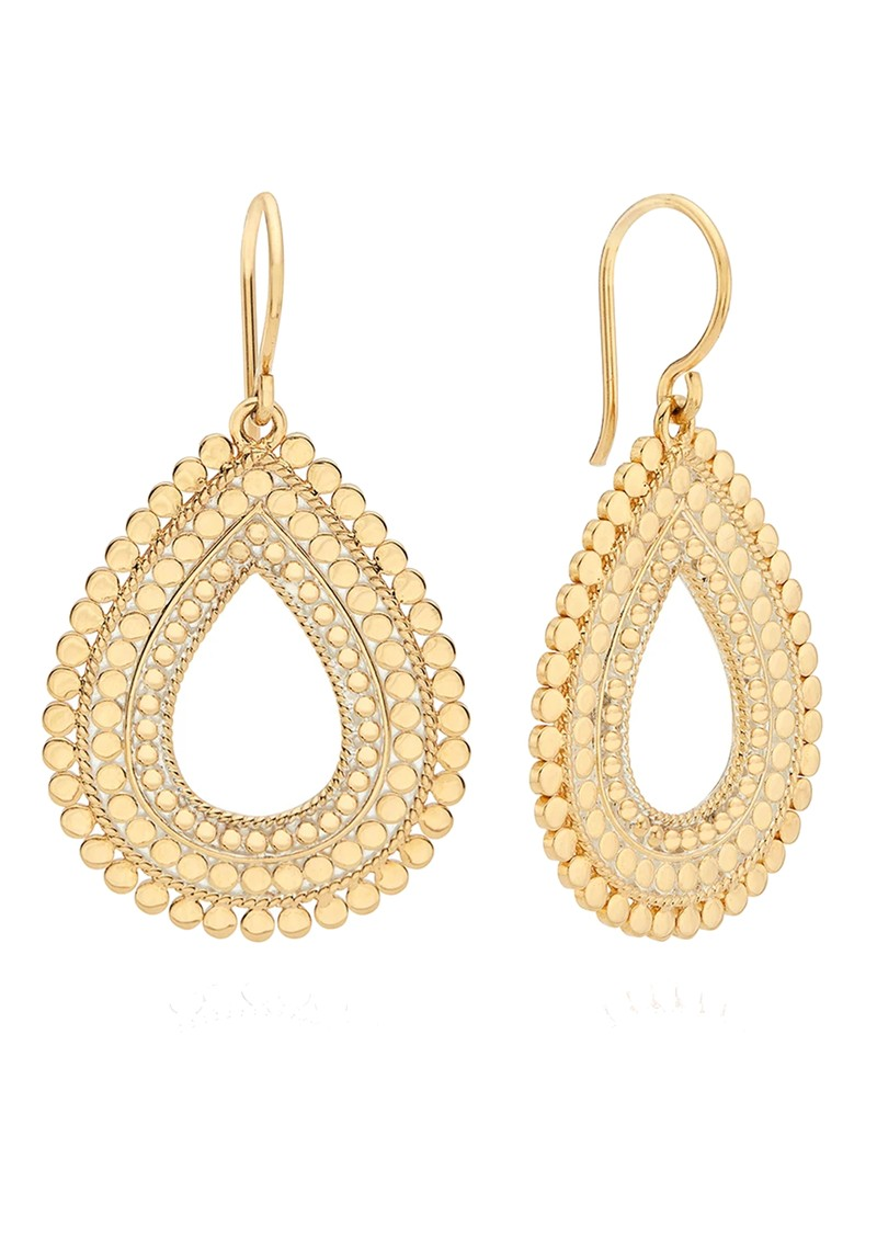 ANNA BECK Large Scalloped Open Drop Earrings - Gold main image