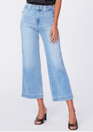 Paige Denim Anessa High Rise Cropped Wide Leg Jeans - Connery