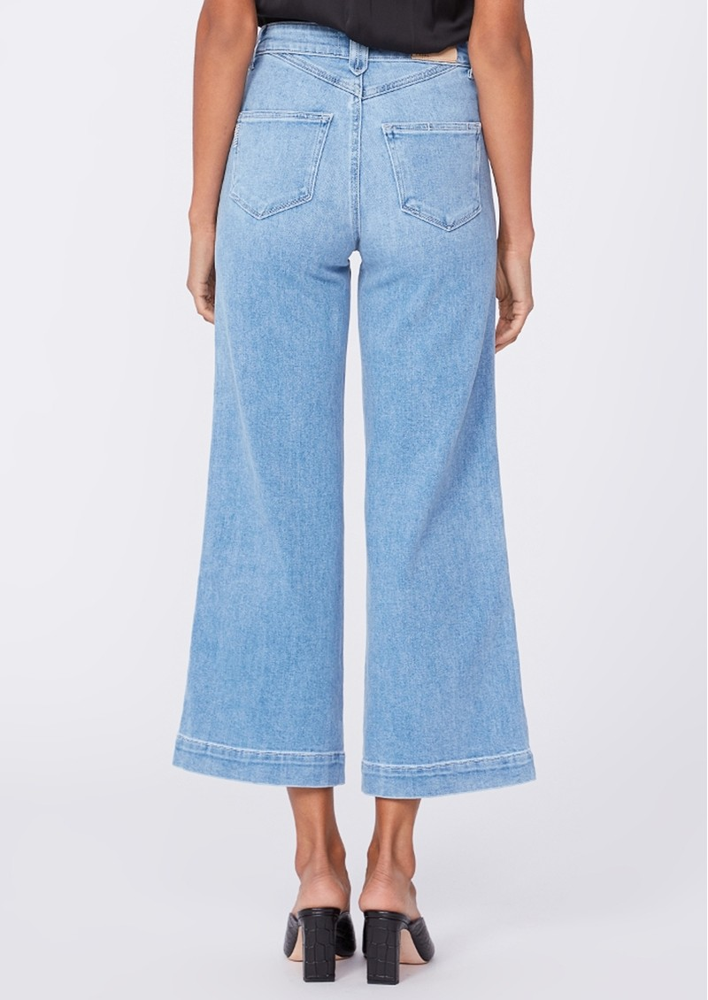 Paige Denim Anessa High Rise Cropped Wide Leg Jeans - Connery main image