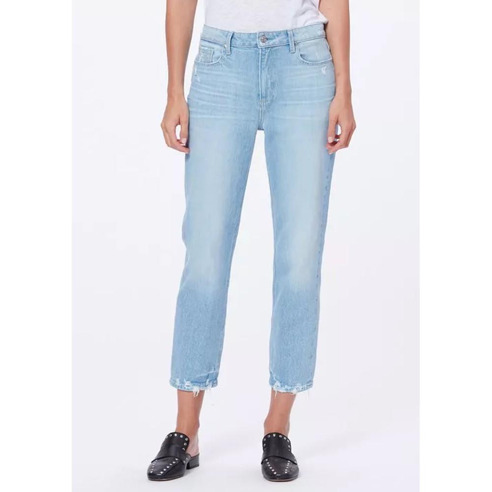 Noella High Rise Distressed Straight Leg Jeans - Duet