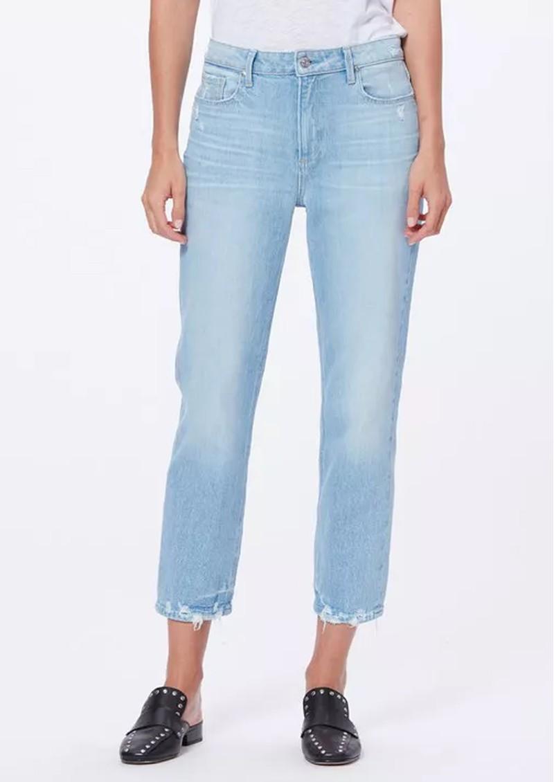 Paige Denim Noella High Rise Distressed Straight Leg Jeans - Duet main image