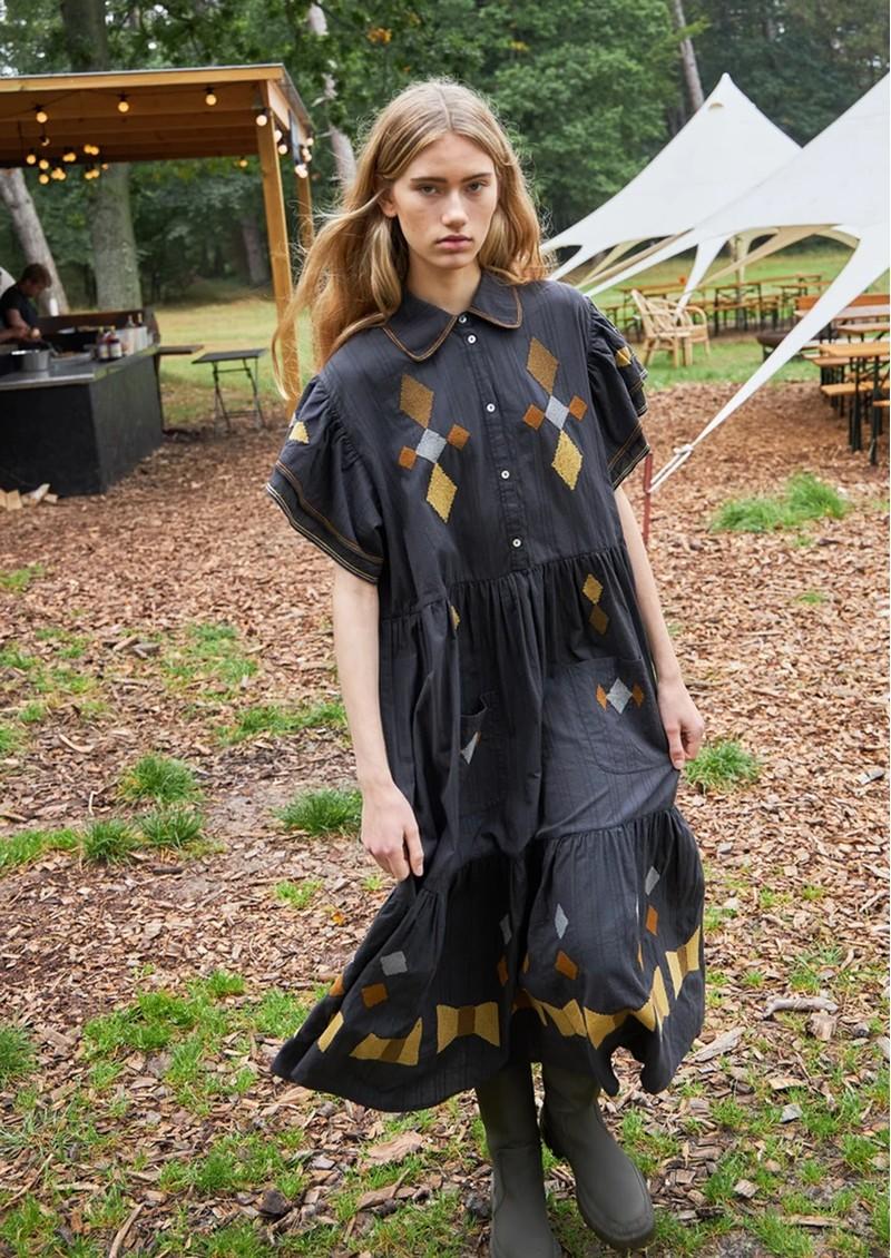 STELLA NOVA Ranya Cotton Dress - Dark Natural main image