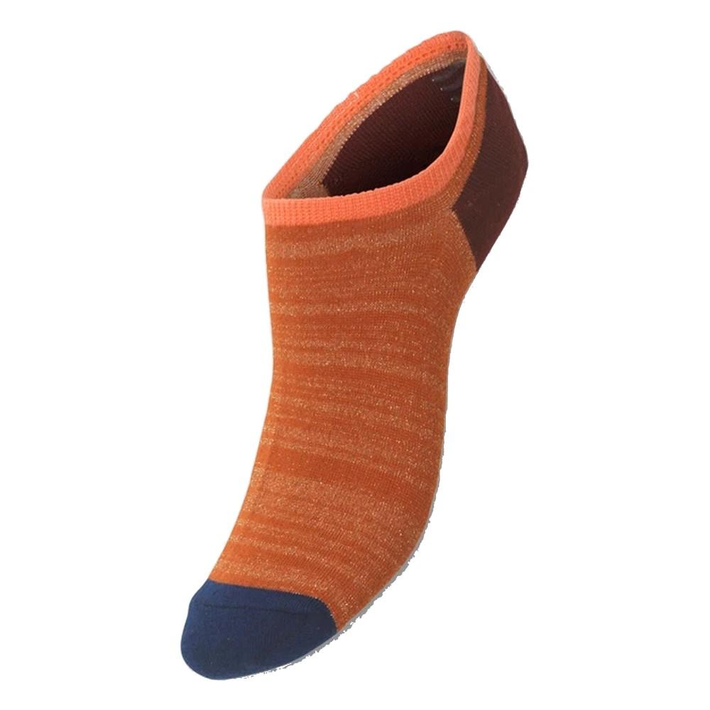 Sneakie Block Trainer Socks - Golden Ochre