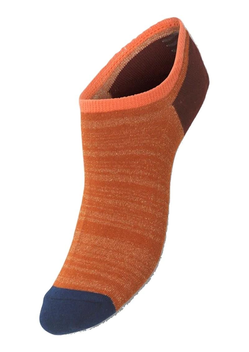 Becksondergaard Sneakie Block Trainer Socks - Golden Ochre main image