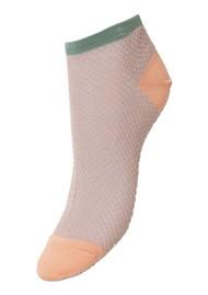Becksondergaard Dollie Harlequin Trainer Sock - Dusty Pink