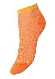 Becksondergaard Dollie Harlequin Trainer Sock - Russet Orange