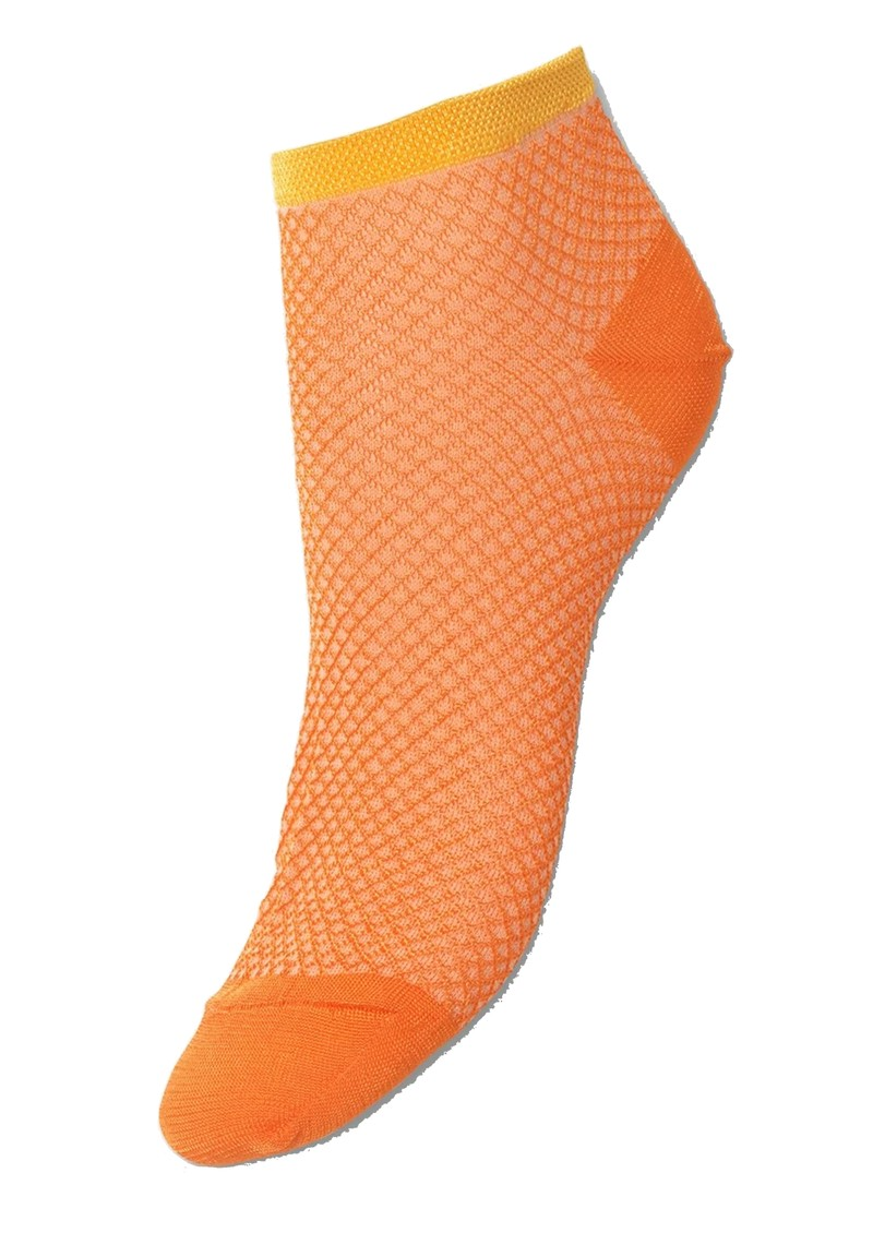 Becksondergaard Dollie Harlequin Trainer Sock - Russet Orange main image