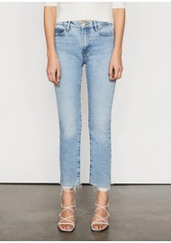 Frame Denim Le High Straight Raw After Jeans - Bathe Chew