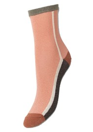Becksondergaard Dean Summerblock Socks - Dusty Pink