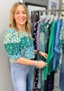 Mckenzie Top - Green Ditzy additional image