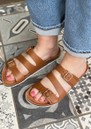 Cara Leather Slip In Sandals - Tan additional image
