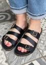 Cara Leather Slip In Sandals - Black additional image