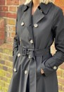 Pleated Trench Coat - Black additional image