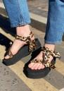 Trekky Platform Sandals - Leopard Satin additional image