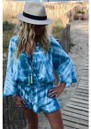 Wave Tie Dye Playsuit - Ocean Blue additional image
