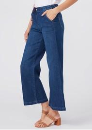 Paige Denim Carly High Rise Wide Leg Pant - Roya